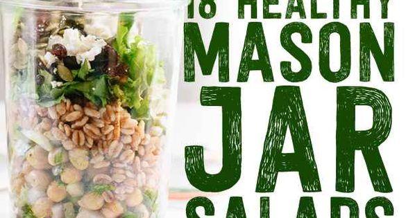 18 Mason Jar Salads That Make Perfect Healthy Lunches breakfast brunch recipe
