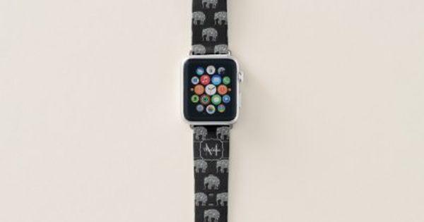 Sparkly Colorful Silver Mosaic Elephant Monogram Apple Watch Band Zazzle Com Black Apple Watch Band Apple Watch Bands Cute Apple Watch Bands
