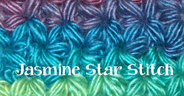 Crochet Jasmine Stitch : How to Crochet a Jasmine Star Stitch Part I Crochet Stitches ...