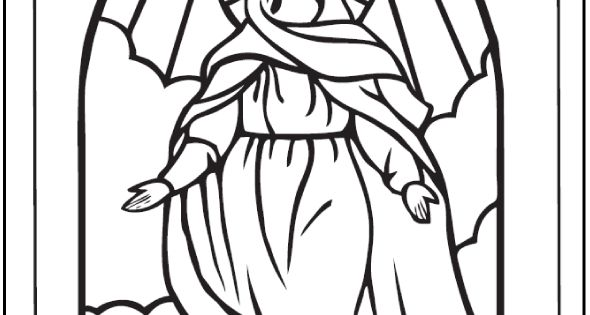 marys assumption coloring pages - photo#20