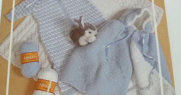Knitting Pattern For Dolls Sleeping Bag : Vintage baby carriage cover knitting pattern leaflet ...
