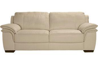Cindy Crawford Home Grand Palazzo Beige Leather Sofa White Leather Sofas Sofa Styling Leather Sofa
