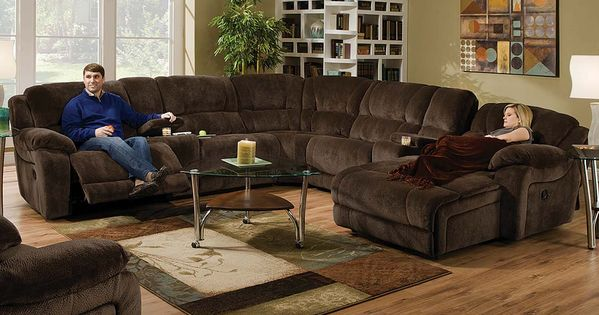 Best Brown Wrap Around Couch Championship Chocolate Reclining 400 x 300