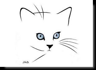 Cartes Postales D Art Felines Dessin Chat Facile Dessin Chat Dessin