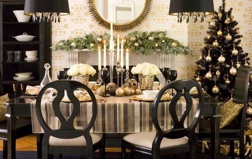 Decoration, The Nice Design Of Black And White Christmas Decoration With Black