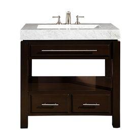 Silkroad Exclusive Stanton Dark Walnut Integrated Single Sink