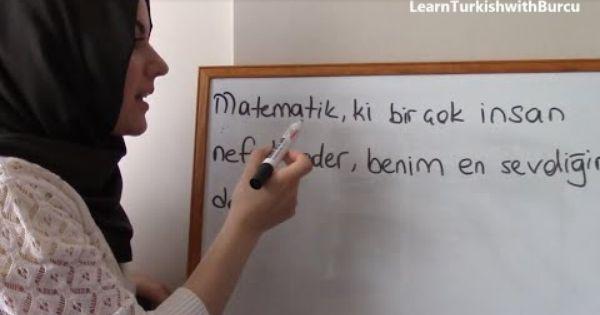 Learn Turkish The Use Of Ki Part 3 Turkisch