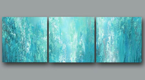 Canvas Abstract Print Set Of 3 Multi Panel Wall Art, Large