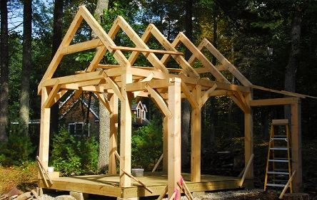 Timber Frame Shed 10x14 Timber Frame Plans Timber Frame Cabin Shed Plans