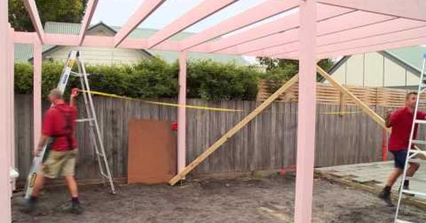 How To Install Bracing For A Carport Diy At Bunnings Youtube Diy Carport Carport Installation