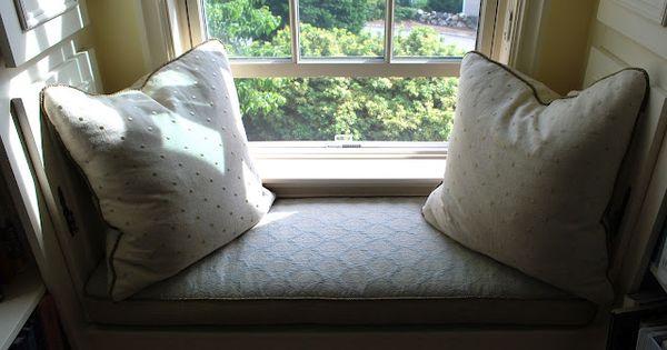 Beautiful Window Seat For The Home Pinterest Custom Cushions