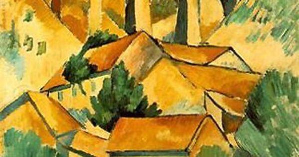 Braque viaducto en el estanque 1908 cubismo for Pintura para estanques