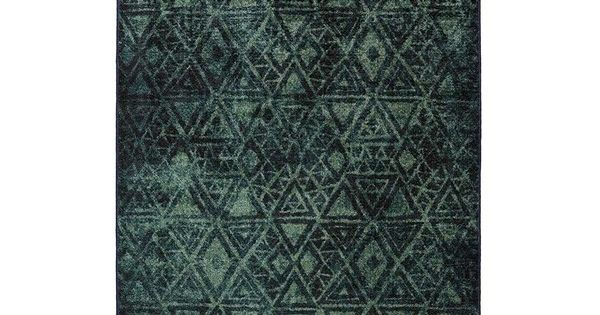 The Moody Rug Green Rug Chic Rug Geometric Area Rug