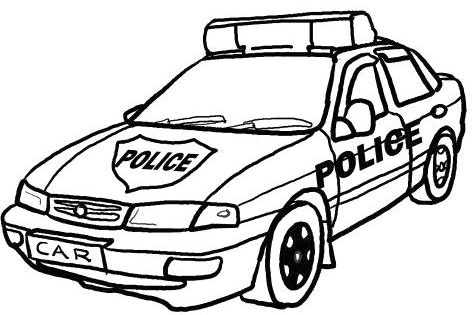 police car coloring pages crafts pinterest police cars and craft. Black Bedroom Furniture Sets. Home Design Ideas