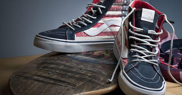 american flag on vans ski h8 vans addict pinterest. Black Bedroom Furniture Sets. Home Design Ideas