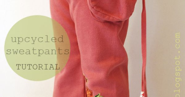 petit à petit and family: DIY- Easy Upcycled Sweatpants