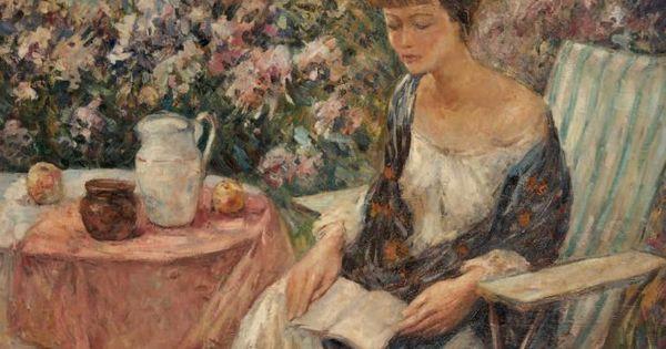 Lois au jardin wilson henry irvine american 1869 1936 for Jardin wilson