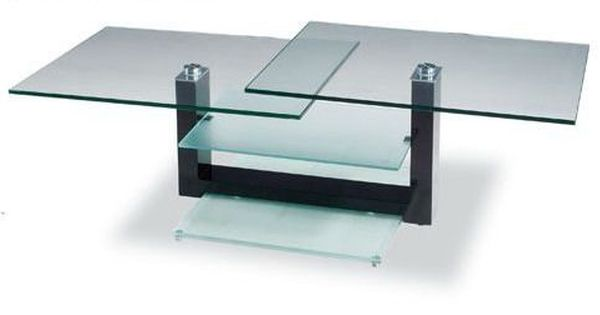 Rectangular Glass Contemporary Coffee Table With Unique Glass Shelves Coffee Table Contemporary Coffee Table Coffee Table Design