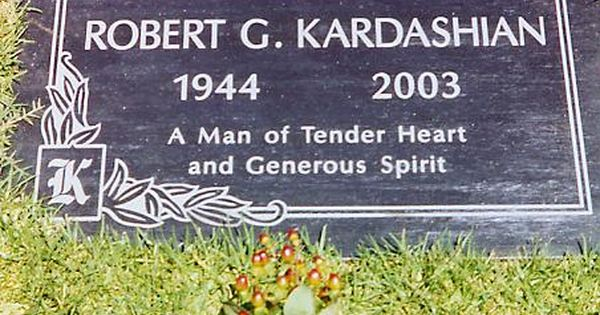 Robert Kardashian Inglewood Park Cemetery Inglewood Ca With
