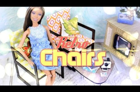 How to Make Doll Retro Chairs - Doll Crafts - YouTube  Doll Stuff ...