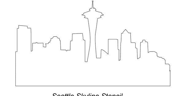 Seattle Skyline Outline Seattle Outline Image By J