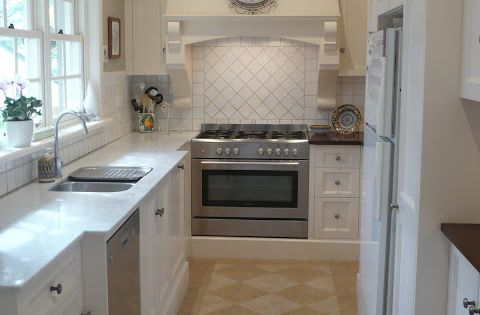 Classically beautiful galley kitchen before and after for Galley kitchen remodel before and after