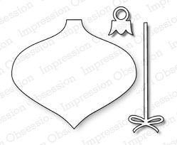 Impression Obsession io Steel Die Set # DIE032-J Vintage Ornament