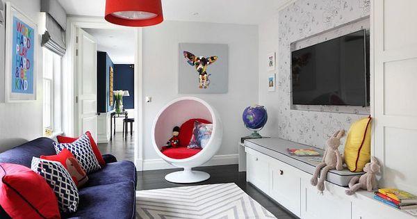 Salle de jeu la maison 30 id es d 39 am nagement et d co parfaits fauteuil oeuf salles de - Jeu de maison a decorer ...