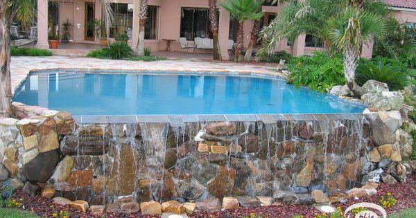 Amazing pool by john clarkson semi inground pools for Above ground pool decks jacksonville fl