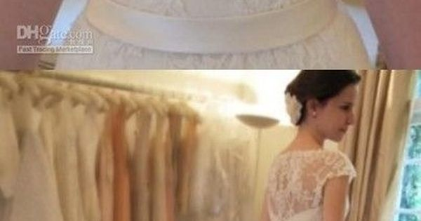 Vintage A-Line Lace Wedding Dresses; I like the neckline on this but
