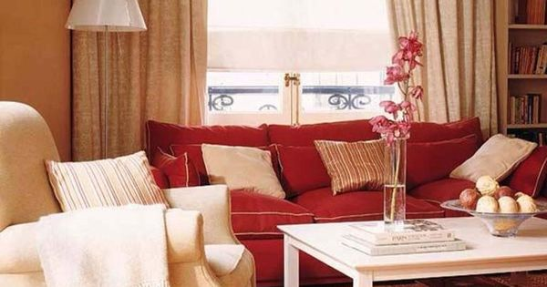Beige Red Living Room For The Home Pinterest Red
