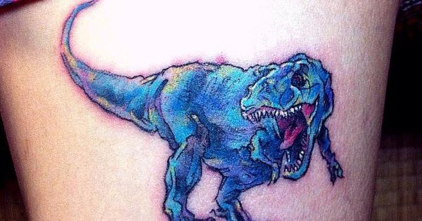 Blue t rex tattoo awesome tattoos pinterest tattoo for Revival tattoo and piercing