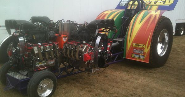 Souped Up Tractor : Adam bauers modified tractor pulling