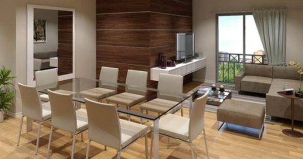 Moderna sala comedor juntos remodelaciones pinterest for Sala y comedor juntos modernos