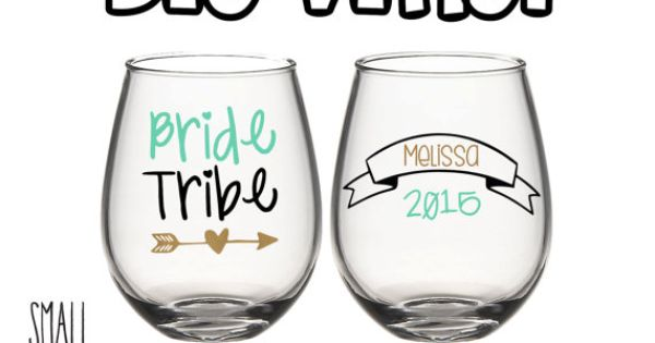 Personalized Bride Tribe Set Of Vinyl Decals By