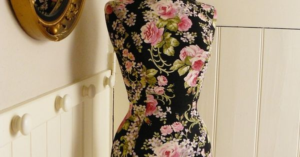 Pink Roses dress form