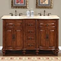 55 Inch Small Furniture Style Double Sink Vanity Travertine Small Double Sink Vanity Bathroom Vanity Designs Double Sink Bathroom Vanity 55 inch double sink bathroom vanity