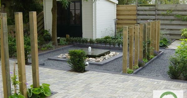 Tuin met waterelement maria schlepers tuinontwerp dronten flevoland ogr d pinterest gardens - Arbor pergola goedkoop ...