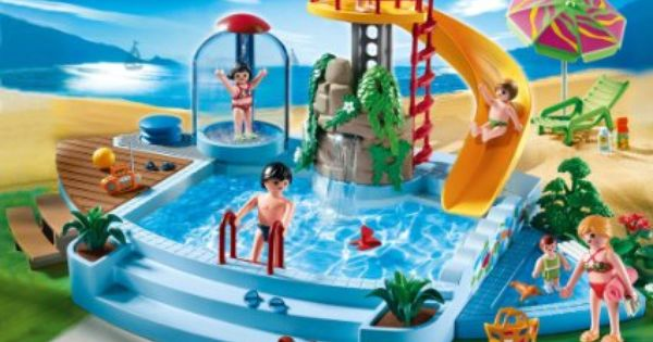 Playmobil 4858 jeu de construction piscine avec for Construction piscine 46