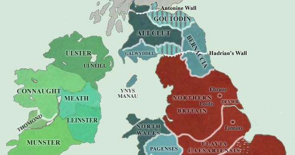 Map Of England 400 Ad.Map Of Britain Ad 400 425 Handbooking