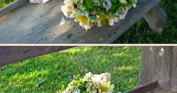 Beautiful summer bouquet with vintage ribbon Flowers By: Steven Bruce Design