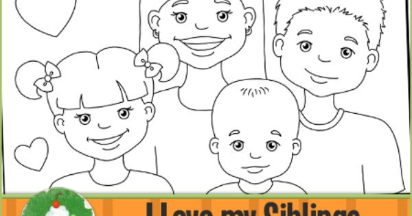 Brothers and sisters coloring pages