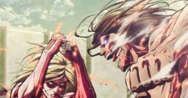 SNK Annie vs Eren | ATTACK ON TITAN | Pinterest