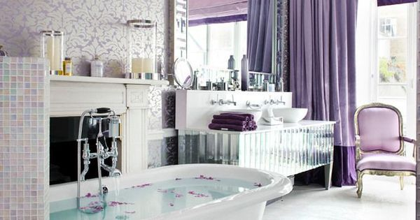 Life1nmotion montagu square by interior desires uk bachelorette glam pinterest bathing - Purple bathroom accessories uk ...