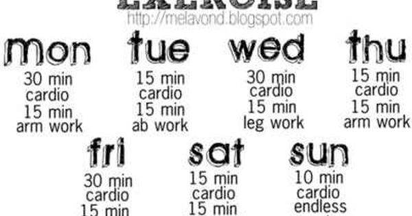 easy flexible cardio workout schedule