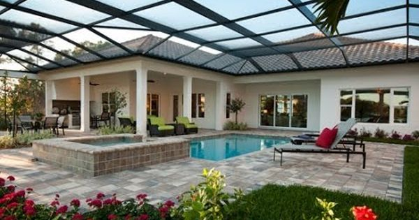 New Homes For Sale At The Founders Club In Sarasota Florida Isabella Ii Floor Plan Jacksonville Fl Real Lanai Design Indoor Outdoor Pool Modern Pool House