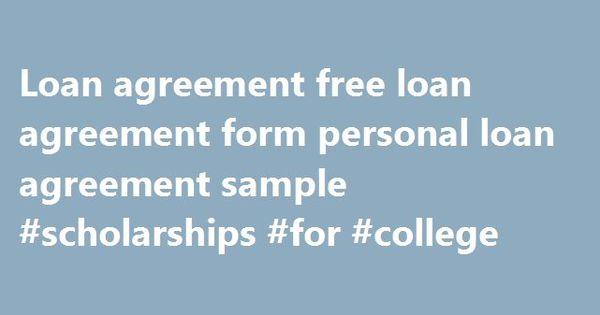 Loan agreement free loan agreement form personal loan agreement - personal loan agreement form