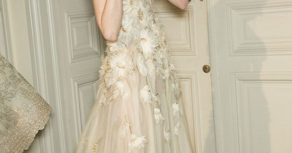 Sasha Luss in Valentino Couture Spring 2013 backstage.