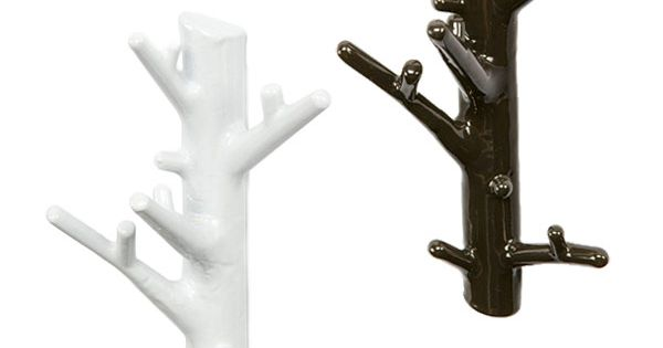 White branch wall hangers hooks white branches and mud for Ghost antler coat rack