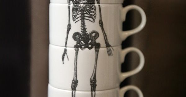 Skeleton Stackable Teacups